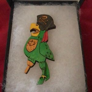 Pirate Parrot Broach🦜